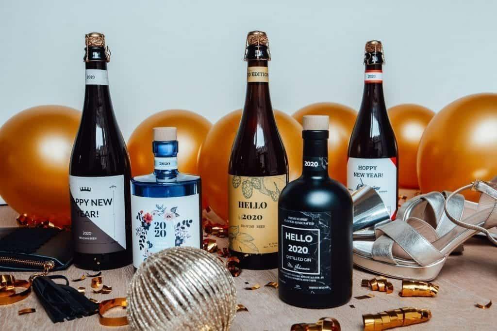 Gepersonaliseerde fles gin of bier nieuwjaar 300x200 - Blog
